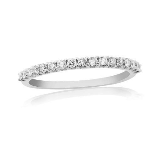 White Gold Diamond Eternity Ring Claw Set 25 Points